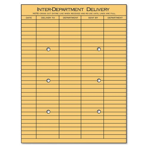 (Universal Light Brown Kraft String & Button Interoffice Envelope, 10 x 13, 100/Box)