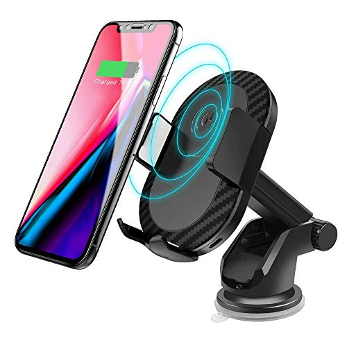 Wireless Car Charger,Sunba Youth Fast Wireless Charger Air Vent & Bracket Phone Holder for Samsung Galaxy S9/S8 Plus,S9,S8,S7,S7/S6 Edge,Note 8/5 and Standard Charge for iPhone X,8/8 Plus & Qi-Enable