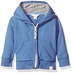 Burt\'s Bees Baby Baby Boys\' Organic Zip Hoodie, Blue Creek French Terry, 12 Months