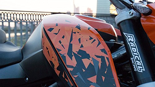 Kit de pegatinas para decoración de Radical, camuflaje Racing, KTM Duke 125, naranja: Amazon.es: Coche y moto