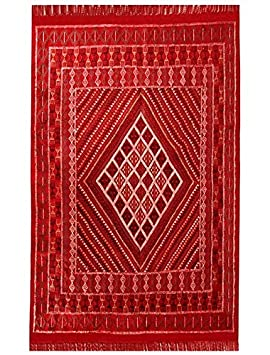 Sajada Tapis Margoum Ilya 165x255 Rouge (Fait Main, Laine, Tunisie ...