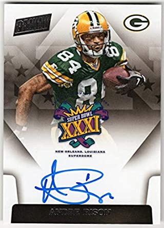 c906d8076 Andre Rison 2018 Panini Super Bowl XXXI On Card Auto Green Bay Packers  Autograph