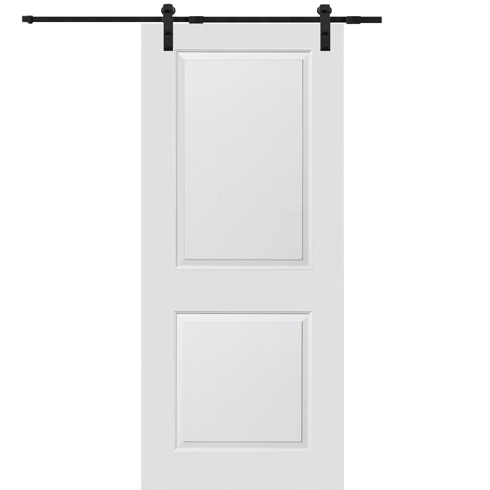 National Door Company Z009532 Solid Core Molded 2-Panel, Primed, 36'' x 80'', Barn Door Unit