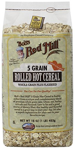 - Bob's Red Mill 5 Grain Rolled Cereal, 16 Ounce
