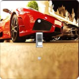 Rikki Knight RK-LSPS-9244 Super Sports Cars In Monte Carlo Design Light Switch Plate Cover
