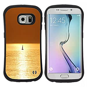 "Pulsar iFace Series Tpu silicona Carcasa Funda Case para Samsung Galaxy S6 EDGE , Mar Velero Velero Verano"""