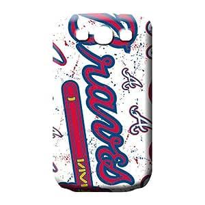 samsung galaxy s3 phone cover shell Premium Protection phone Hard Cases With Fashion Design atlanta braves mlb baseball