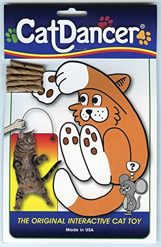 Cat Toy Dancer The Original Interactive Cat Toy Cardboard Wire Irresistable Play Fun (Cat And Laser Pointer Costume)