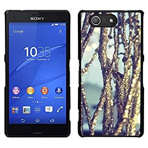 A-type Arte & diseño plástico duro Fundas Cover Cubre Hard Case Cover para Sony Xperia Z3 Compact / Z3 Mini (Not Z3) (Ice Reflective Sun Nature Snow)