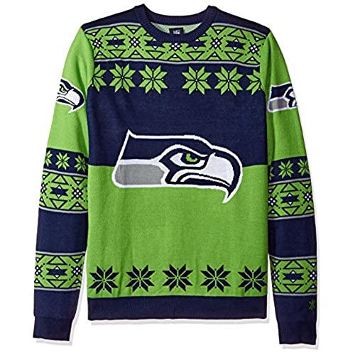 klew ugly sweater seattle seahawks small - Seahawks Christmas Sweater