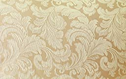 Sure Fit Scroll 1-Piece - Chair Slipcover  - Champagne (SF24985)