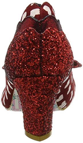 Irregular Choice Stage Left - Tacones Mujer rojo (Red/White)