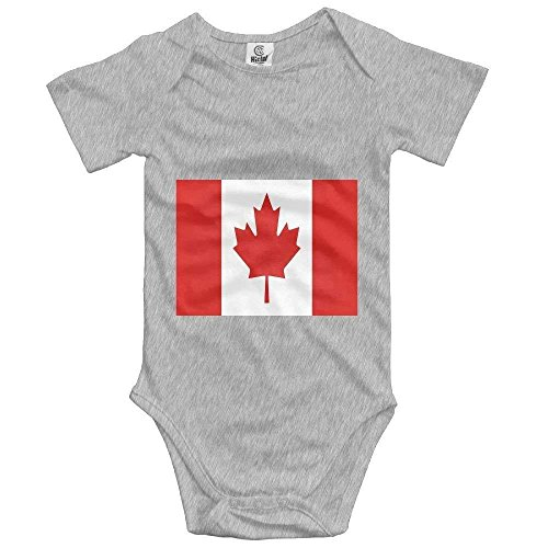 Canada Flag Bodysuit Cute Baby Newborn Rompers Short Sleeve Jumpsuit T-Shirt