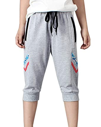 Pantalon Corto Chandal Verano Deporte 3/4 Pantalon Jogging para ...