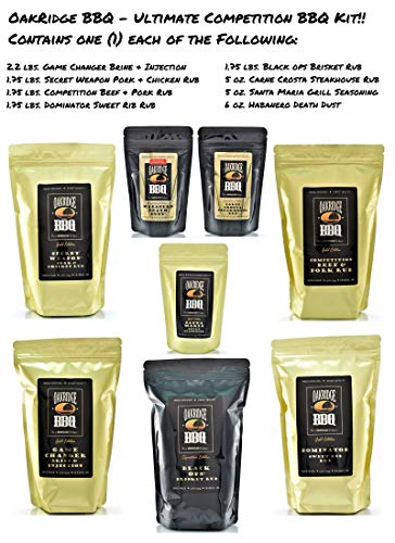 Oakridge BBQ The Ultimate Back Yard BarBQ Kit – Contains Eight (8) of the Most Popular Barbeque Rubs and Seasonings by Oakridge BBQ (Image #1)