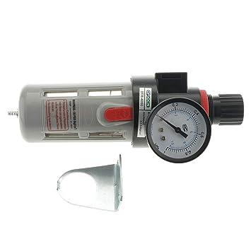 Sharplace Filtro de Compresor de Aire Separador de Agua Calibrador Regulador de Presión BFR4000 Alta Calidad: Amazon.es: Jardín