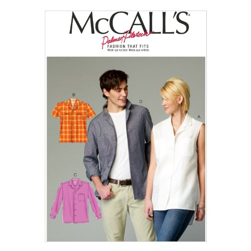 mccall-pattern-company-m6932-misses-mens-shirts-size-xm