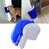 SweetPetGarden Self Groomer with Catnip Pouch - Cat Self Groomer Wall Corner Massage groomer Cat Self Grooming Brush