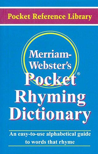 Rriam Webster's Pocket Rhyming - Dictionary Rhyming Websters Pocket