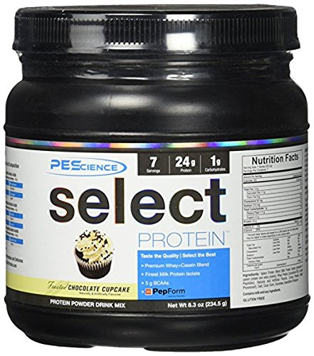 PEScience Select Protein, Frosted Chocolate Cupcake, 7 Serving, Premium Whey and Casein Blend