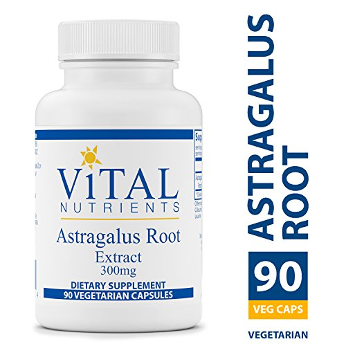 Vital Nutrients – Astragalus Root Extract 300 mg – Vegan Formula – Herbal Support for The Immune System – 90 Vegetarian Capsules per Bottle
