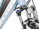 Rook Electric Bike, Womens Electric Bicycle, Cruiser Bike, Battery Powered Ebike - Grey S/M