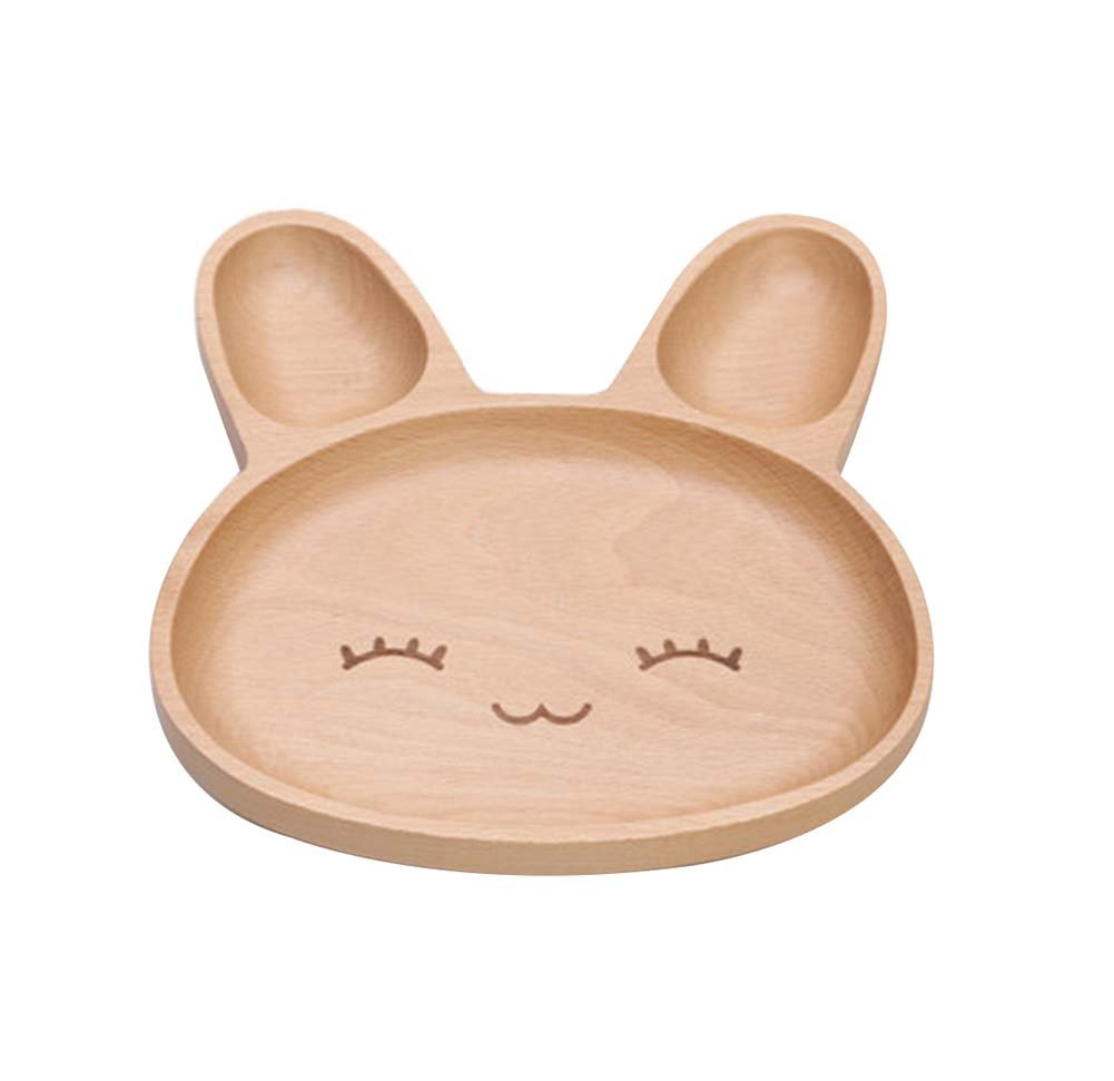 Tray/Baby Tableware For Baby Safe Lovely Environmental Wooden(Delightfulness)