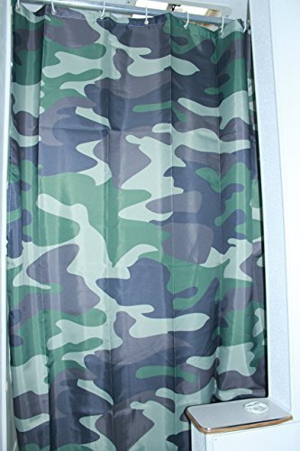 RV Shower Curtain Accessories Gear For Camper Trailer Camping Bathroom Shorter And Narrow Sliding Camo