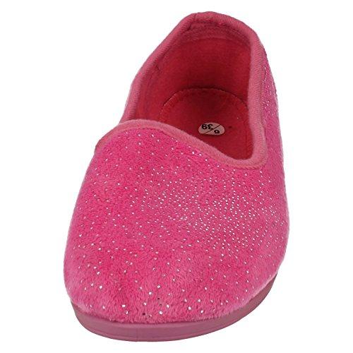 Spot On , Damen Hausschuhe Hot Pink