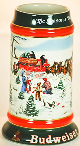 1991 - Ceramarte - Made in Brazil - Anheuser-Busch Inc - The Season's Best - Vintage Beer Stein - Art by Susan Sampson - VERY RARE - Shipped w/No Handle ()