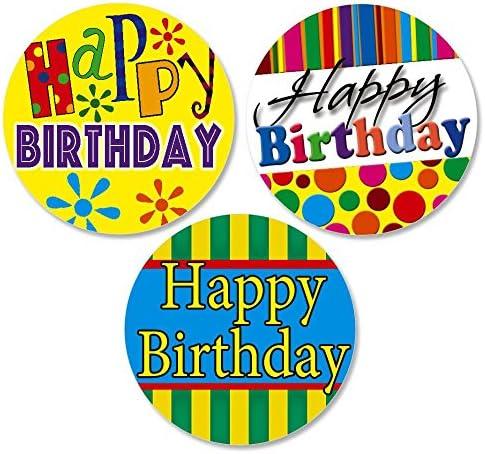 best decorative labels.htm amazon com happy birthday envelope seals 3 designs  office  happy birthday envelope seals 3 designs