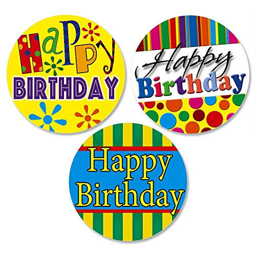 Happy Birthday Envelope Seals(3 Designs)