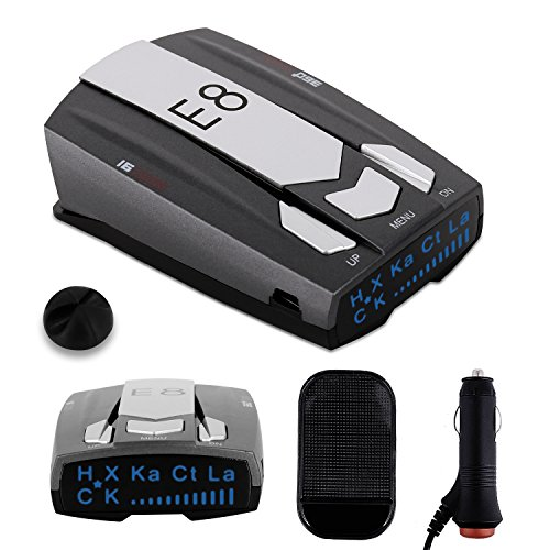 Radar Detector E8, Car Speed Laser Radar Detector with LED display Voice Alert and Alarm System Radar Detector Kit with 360 Degree Detection FCC Certificate (Alert System Alarm Kit)