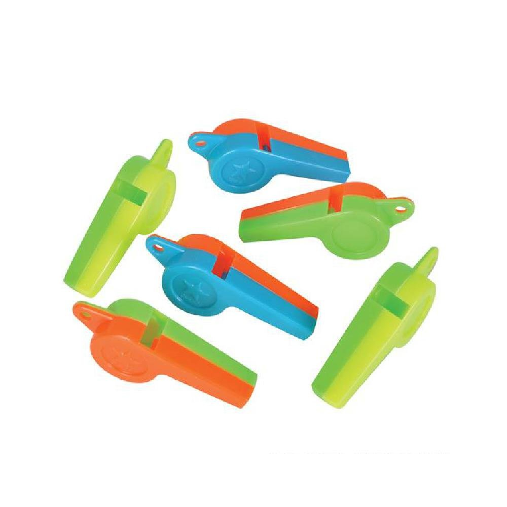 Hard Plastic Whistle (With Sticky Notes) by Bargain World