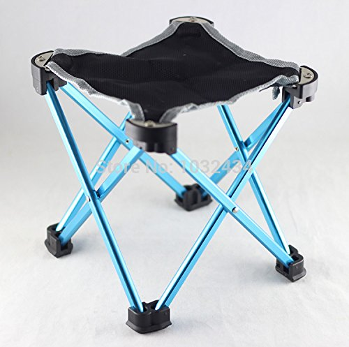 1 Pc/lot Outdoor Folding Stool Travel Chair Fishing Hunting Camping Parade Concert Chair Aluminum Alloy Size L