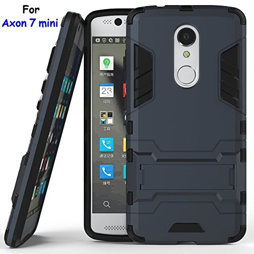 Axon 7 mini Case, ZTE Axon 7 mini Case, MicroP(TM) Dual Layer Armor Hard Slim Hybrid Kickstand Phone Cover Case for ZTE Axon 7 mini (Axon 7 mini Navy blue Kickstand Case)