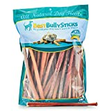 All-Natural 12 Inch Thick Odor-Free Bully Sticks by Best Bully Sticks (50 Pack) - Made from Free-Range, Grass-Fed Cattle
