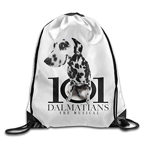 [MGTER66 Backpack Gymsack Sport Bag 101-Dalmatians White] (Dalmatians Costume Makeup)
