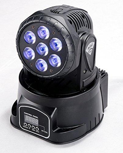 Dmx Moving Head Led Wash (7x12w 4in1 LED Lamp Mini Led Moving Head Beam Wash Spot Light Dj Disco Club Party Wedding Stage Effect Lighting)