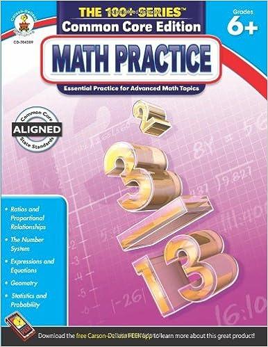 Amazoncom Math Practice Grades 6 8 The 100 Series