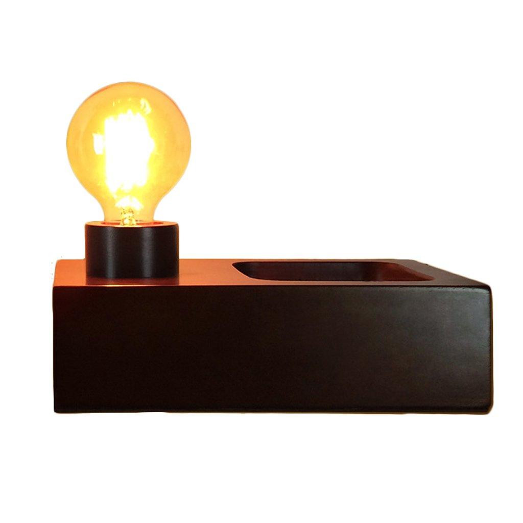 Surprising Amazon Com Halori Bedside Lamp Diy Wooden Classical Art Download Free Architecture Designs Viewormadebymaigaardcom