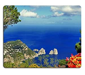 Clouds Landscapes Flowers Italy Oceans Mouse Pads Customized Made to Order Support Ready 9 7/8 Inch (250mm) X 7 7/8 Inch (200mm) X 1/16 Inch (2mm) High Quality Eco Friendly Cloth with Neoprene Rubber MSD Mouse Pad Desktop Mousepad Laptop Mousepads Comfortable Computer Mouse Mat Cute Gaming Mouse pad