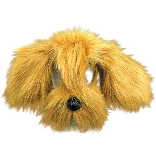 Bristol Novelty EM357 Shaggy Dog Mask with Sound On Headband, Brown, One -