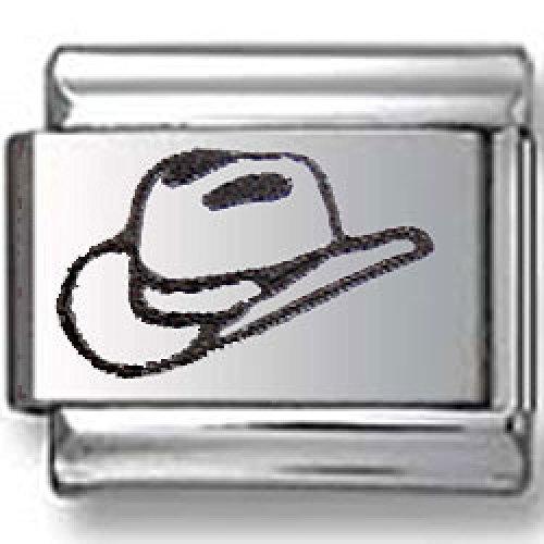 Cowboy Hat Laser Italian charm