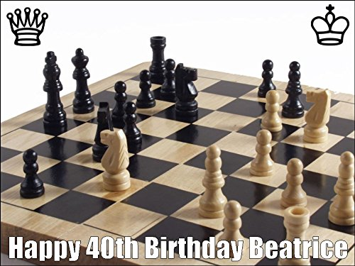 Prime 10 X 7 5 Chess Birthday Cake Toppers Personalised And Decorated Funny Birthday Cards Online Overcheapnameinfo