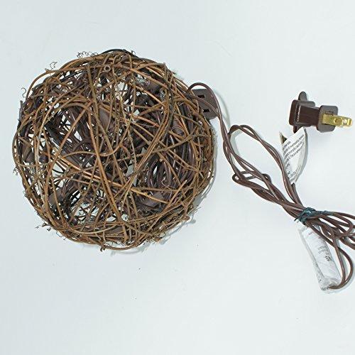 Emlyn LED Pendant Lamp By Emlyn (6.7'') Christmas Decor, Ambient Mood Lighting Night Globe, Romantic Lantern For Wedding, Holiday, Patio, Outdoor (Warm White), rattan, grape by Emlyn (Image #3)