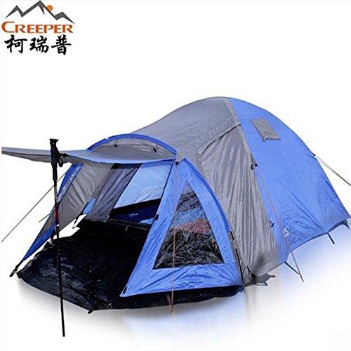 FUDA tent Kerui Pu Au?en 3 4 Etagenfestzelt gegen Sturm Multiplayer Glas wasserdichte Zeltstange Zelt