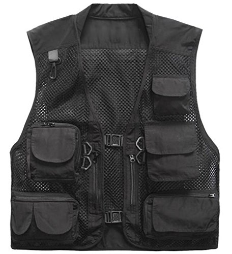 ZSHOW-Mens-Mesh-Fishing-Vest-Multi-Pockets-Photography-Outdoor-Jacket