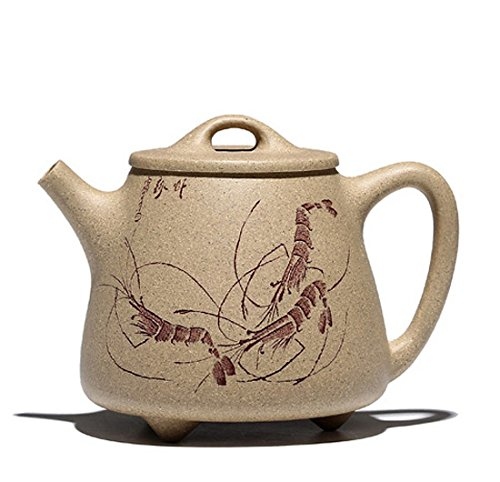 Chinese Yixing Handmade Pure Clay Zisha Teapot High Shipiao Hu Duan Ni Tea Pot 210cc