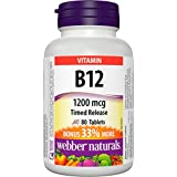 Webber Naturals Vitamin B12 Timed Release Tablet, 1200mcg